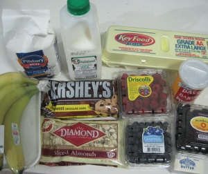 BANANA TRIPLE BERRY ALMOND CHOCOLATE CHIP CUPCAKES INGREDIENTS